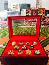 St. Louis Cardinals 11 World Series Championship Ring Set Display Display Box