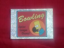 THE SIMPSONS 2001 PANINI FOIL STICKER # K BART BOWLING CHAMP 20th C FOX ITALY