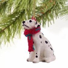 Dalmatian Dog Christmas Ornament Holiday Figurine scarf