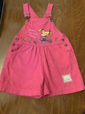 Vintage Nickelodeon Rugrats. Girls Bib Overalls Shorts Pants. Size 4, Pink