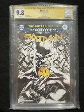 Batman 21 The Button Sketch Cover CGC 9.8 Signed Tom King DC Rebirth Fabok