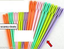 10pk 2 sizes SMALL & LARGE KIDS PLASTIC SEWING NEEDLES 1ST CLASS POST