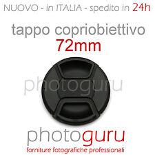 Tappo obiettivo a molla 72mm coperchio universale Canon Nikon Sony Sigma 72 mm