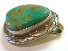 TAXCO .925 Sterling Silver Pendant w/Spider Turquoise from Mexico