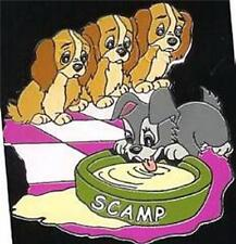 Lady & Tramp Scamp And Puppies Authentic Disney  Auction on orig backer card Pin