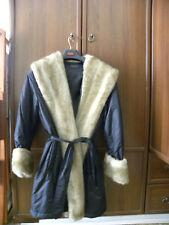 LUISA SPAGNOLI- Cappotto -  NUOVO colore nero taglia S- collo di pelliccia