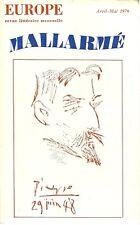 EUROPE - REVUE LITTERAIRE - MALLARME  N° 564/565 - 1976
