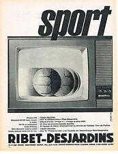 PUBLICITE ADVERTISING   1962   RIBET-DESJARDINS  téléviseur SPORT