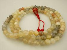 Mala Moonstone Gemstone Filigree Carnelian Rosary NEPAL BUDDHISM 135