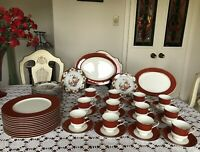 Mikasa-Bone China -Egyptian Terracotta A6850-Narumi Japan- 12 Place Setting-52pc