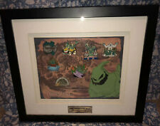 Rare Oogie Boogie's Framed Disney Pin Set - Splash Mountain + Limited Edition