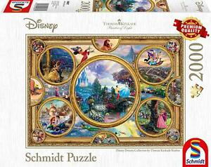 Disney Dreams: Schmidt Premium Thomas Kinkade fantasy Jigsaw Puzzle 2000 p'ce 59