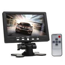 7Inch 800x480 TFT LCD Remote HD AV HDMI VGA Car Rear View Monitor 2CH Video IN