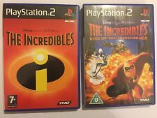 2 x BOXED PAL PLAYSTATION 2 PS2 GAMES THE INCREDIBLES + RISE OF THE UNDERMINER