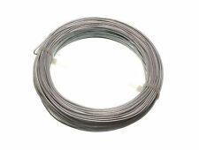 NEW GALVANISED GARDEN FENCE WIRE 1.6 MM 30 METRES - 2 rolls each 0.5kg in weigh