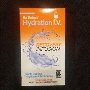 Rx Select Hydration I.V. Energy Infusion Citrus orange 20 Sticks Exp:04/2023 Wow
