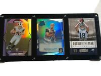 Cooper Kupp Rookie Card Lot Plaque Display Optic Holo Prizm Rams Contenders Gift
