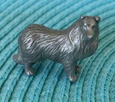 Vintage Pewter Miniature Collie Shetland Sheepdog - Marked P Davis 1988 Dog Rare