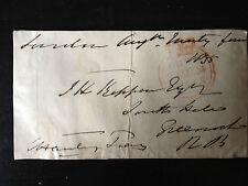 CHARLES HANBURY TAYLOR - PONTYPOOL IRONWORKS - SIGNED ENVELOPE FRONT 1835