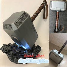 Thor's Hammer+Stand Led Thor Odinson Cosplay 1:1 Full Metal Heavy 4KG Collection