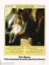 PUBLICITE ADVERTISING 055  1973  PETIT-BATEAU  pyjamas gigoteuse enfant