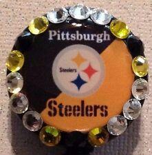 Nfl Pittsburgh Steelers Badge Reel Id Holder- Steelers Badge Reel - Alligator Cp