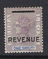 SIERRA LEONE Queen Victoria 1s. Mauve & Blue Overprinted REVENUE MINT see scans.