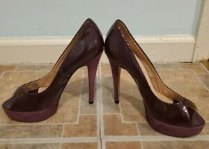 Chiara Ferragni Wedge Purple Shoes Pumps 37 Made In Italy