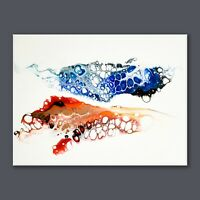 "ORIGINAL PAINTING 12"" x 16"" CANVAS ABSTRACT ART ACRYLIC PAINTING  WALL DECOR"