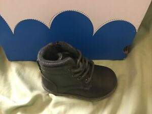 New Boys Toddle Jumping Beans Gray Dress Boots Size 5 Medium