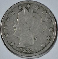 1884 Liberty Head Nickel Good