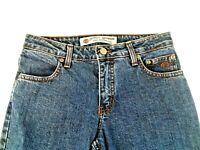 Harley Davidson Genuine Motor Clothes Womens Size 2 Boot Cut Denim Blue Jeans