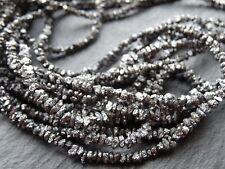 "Naturel noir brut Diamant Pépites, 2 mm - 3.3 mm, 16.5"" brins, 250 perles"