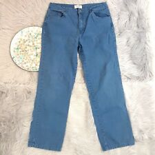 St Johns Bay Womens Jeans Size 12 Blue Colored Straight Classic Stretch o907