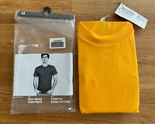 American Apparel Fine Jersey Crew Neck Short Sleeve T-Shirt Yellow Size M - NEW