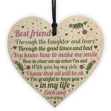 Friendship Sign Best Friend Plaques Gifts Shabby Chic Heart Thank You Keepsakes