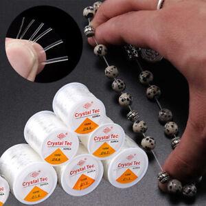 1 Roll Elastic Thread Crystal Thread Round Transparent High Stretch Beads String