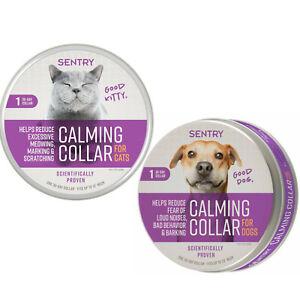 SENTRY Good Behavior Pheromone Calming Dog Cat Collar Stress Separation Anxiety