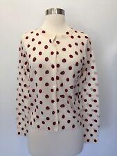 New JCREW Jackie cardigan sweater in sequin polka dot Dusty Ruby Size XL G7749