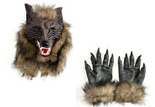 Werewolf Latex Mask Gloves Wolf Claw Halloween Party Cosplay Costumes Props Game