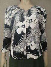 Joseph Ribkoff Trend Jacket Blazer Coat Full Zip US14 Black White Pleated Lined