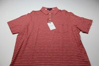 NWT Daniel Cremieux Nantucket Wood Red Stripe POLO SHIRT XL