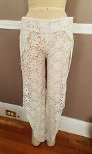 Stunning White Swimwear Cover-Up Pants By Amuse Society!! Size Medium!!
