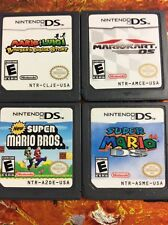 New Mario Bros + Kart + Luigi + 64 DS Authentic Cleaned Tested Lot Of 4