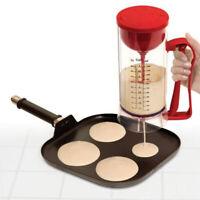 Cordless Electric Pancake Cup Cake Waffles Batter Mixer Dispenser Maker Machine