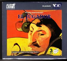 El Jugador / The Gambler by Fyodor Dostoyevsky (Spanish) 3 Audio CDs - NEW