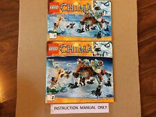 New Lego Instruction Manual ONLY for Chima Sir Fangar's Saber-tooth Walker 70143
