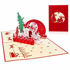 3D Pop Up Holiday Greeting Cards Snowman Jesus Reindeer Xmas Thanksgiving Prof