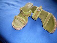 Damen Sandalen mit Keilabsatz Gr.39 Geox grün
