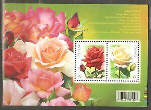 Canada: mint block, Flowers - Roses, 2014, Mi# Bl-188, MNH